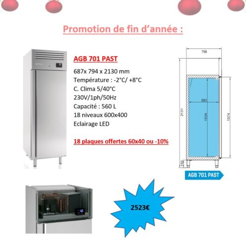 Réfrigérateur pour pâtisserie 600x400